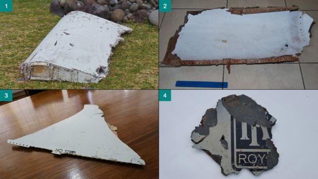 Debris found on beaches in South Africa and Mauritius confirmed as belonging to Malaysia Airlines flight MH 370