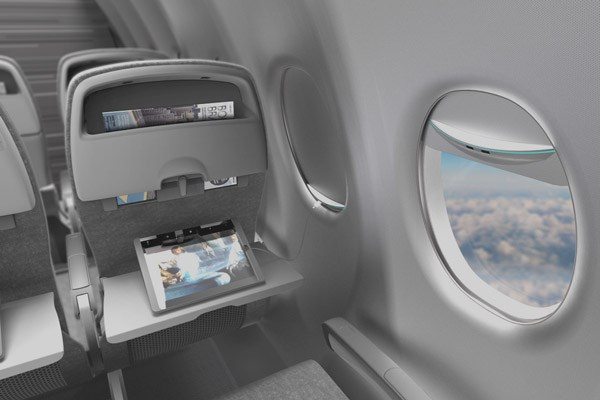 The plane window shade that could charge your mobile phone..!