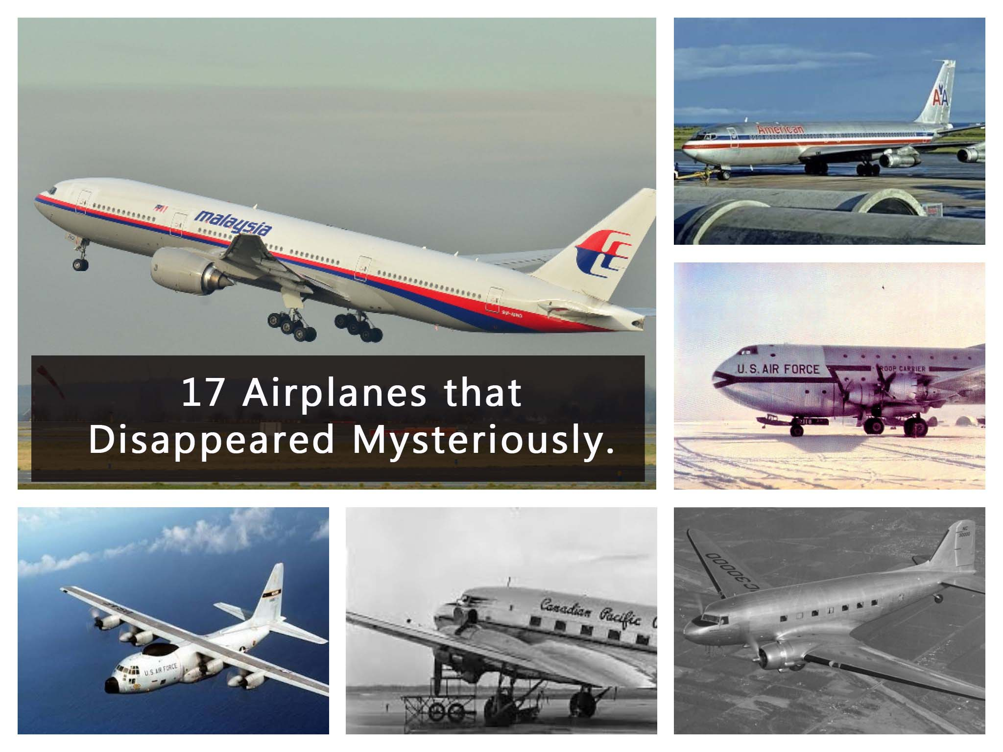 17 Airplanes that Disappeared Mysteriously.