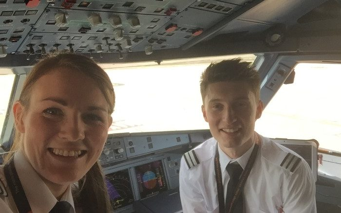 Meet the 26-year-old airline captain and her 19-year-old co-pilot
