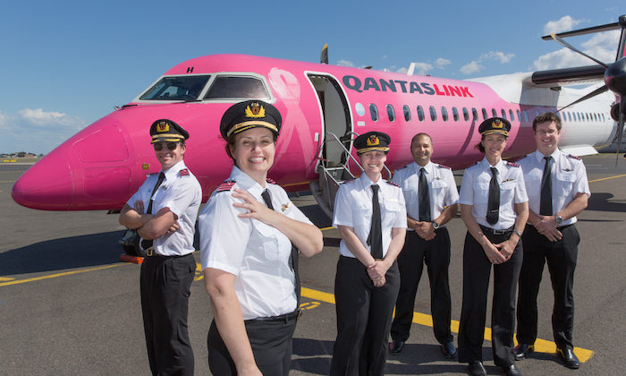 Qantas group employees flypink for Breast Cancer Research..!