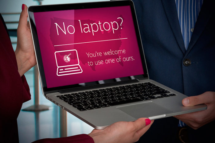 Qatar Airways offers free laptops on US flights to circumvent electronics ban.