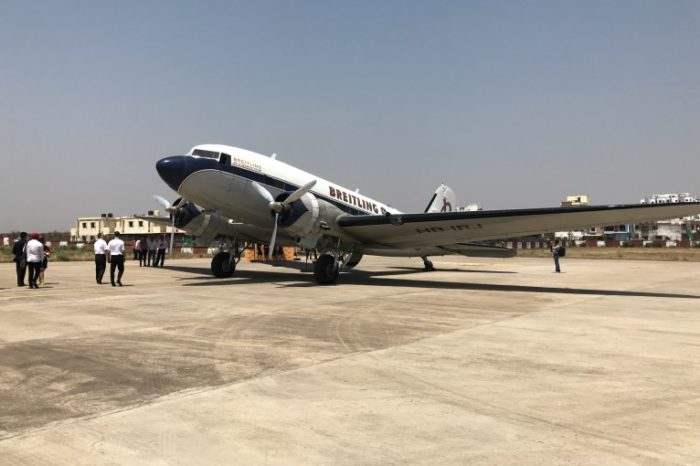 WWII 77 years old plane lands in Nagpur, to circle the globe in 6 months.
