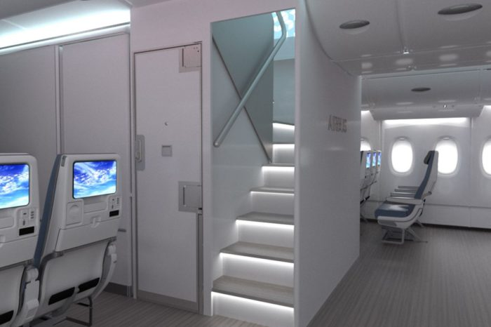 "Airbus develops package of new A380 Cabin Enablers, including ""New Forward Stairs"" option, for A380 customers"