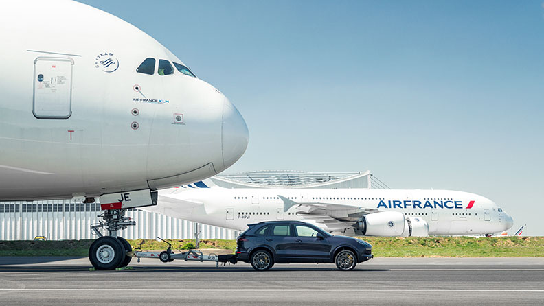 Porsche Cayenne sets new Guinness World Record, tows largest passenger aircraft Airbus A380