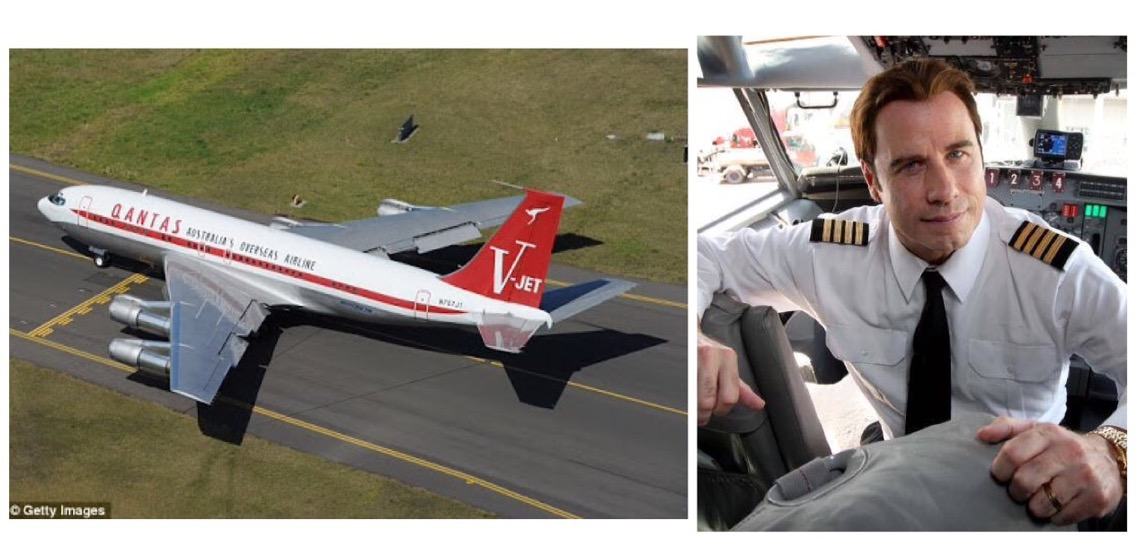 John Travolta donates vintage Qantas Boeing 707 plane to NSW aviation museum