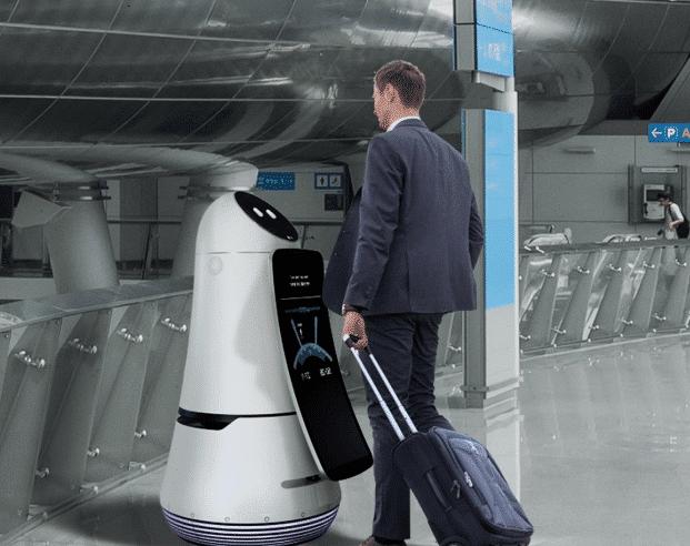 LG begins robot trials in Korean airport