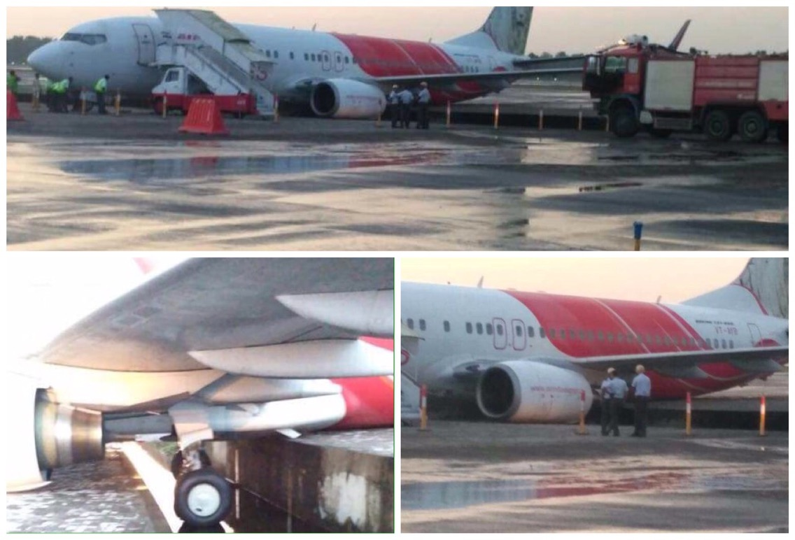 Air India Express flight skids off runway while landing at Kochi airport