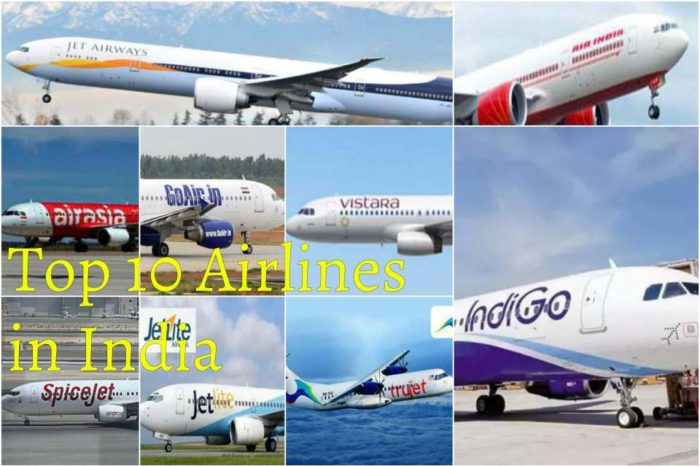 Top 10 Airlines in India 2017