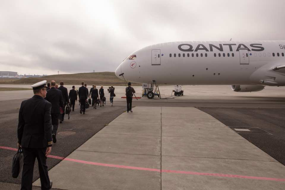QANTAS UNVEILS FIRST DREAMLINER, GREAT SOUTHERN LAND