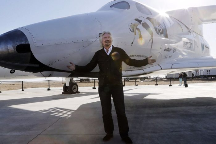 Virgin Galactic's Richard Branson says he will be in space in six months