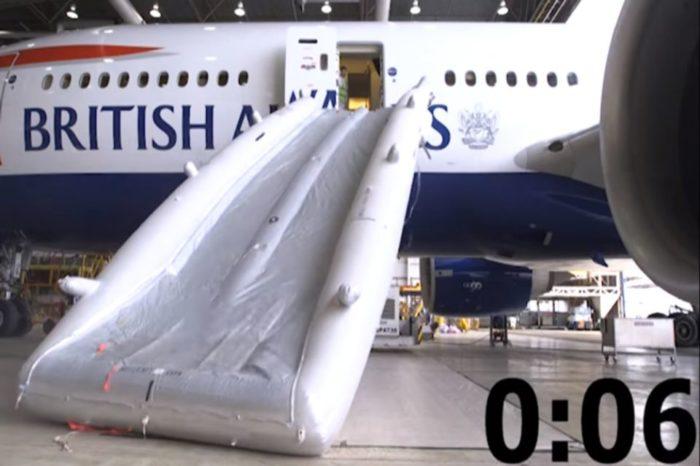British Airways explains how an evacuation slide works : Video