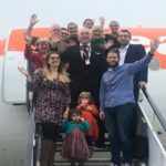 Retiring easyJet pilot surprised by his family on final ever flight
