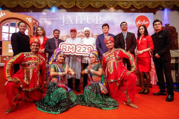 "AirAsia X launches direct flight to the ""Pink City"" in India from Kuala Lumpur!"
