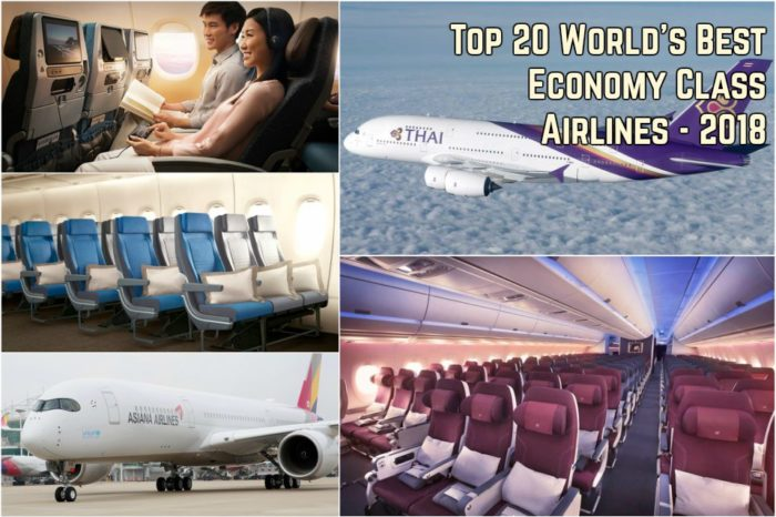 Top 20 World's Best Economy Class Airlines - 2018