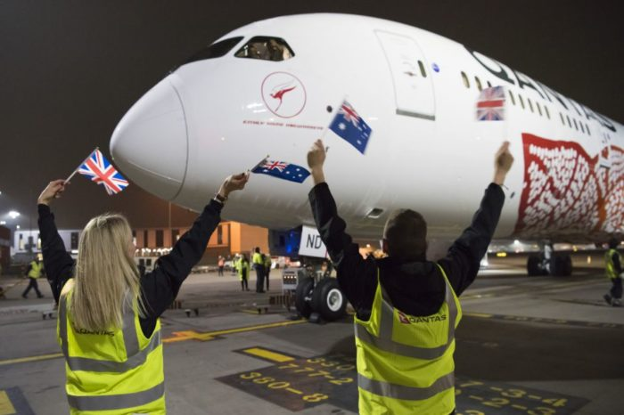 First non-stop flights between Perth and London lands at Heathrow.