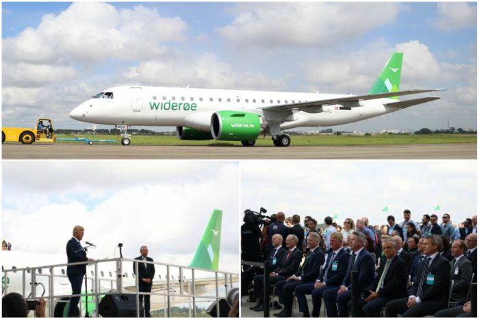 Norway's Widerøe Receives World's First Embraer E190-E2 Jet