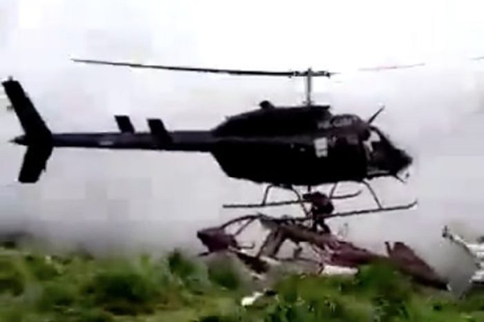 A man sliced to death by a helicopter blade during rescue mission