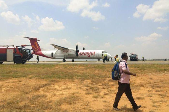 Smoke In Bengaluru-Bound SpiceJet Plane SG-3466(VT-SUM)