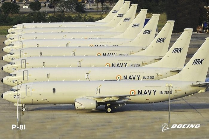 What is the Boeing P-8I in the Indian Navy used for?
