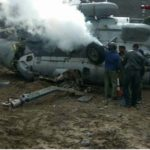 IAF helicopter collides with iron girder, catches fire; Pilot among four injured