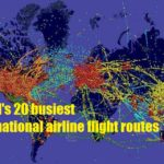 The world's 20 busiest international airline flight routes