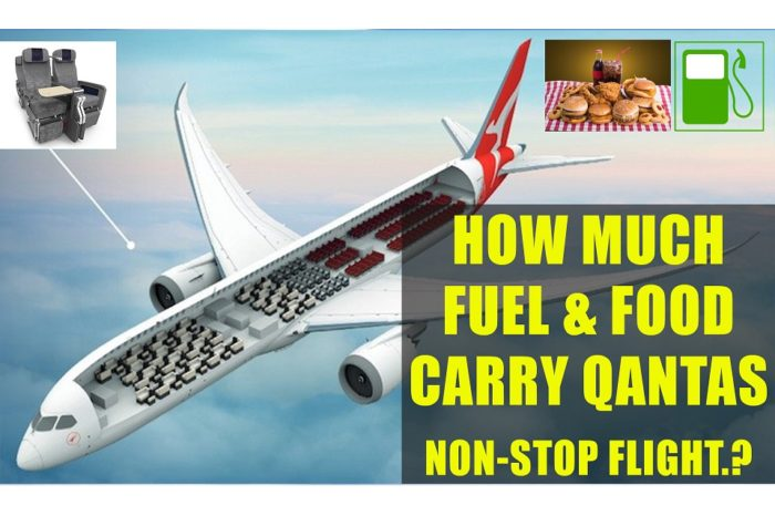 How Much Fuel and Food is Required for Qantas Non-stop Flight ? Perth to London