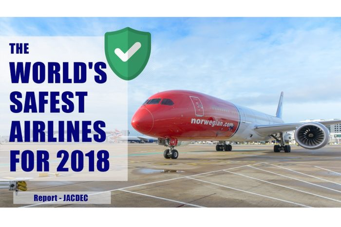 World's Safest Airlines in 2018 by JACDEC