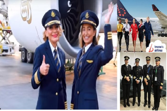 Emirates , Air india and Brussels Airlines salutes its female employees on International Women's Day