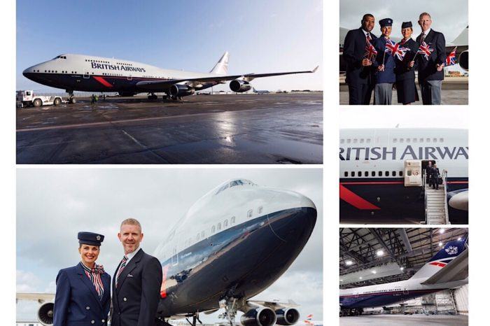 LANDOR HOPE AND GLORY: 747 TOUCHES DOWN AT HEATHROW