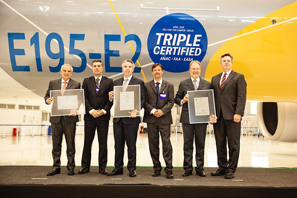 Embraer E195-E2 Granted Certification by ANAC, FAA and EASA